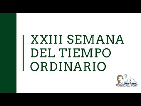 Misa vespertina - Sábado de la XXIII Semana del Tiempo Ordinario