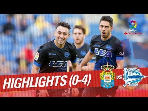 Resumen de UD Las Palmas vs Deportivo Alavés (0-4)