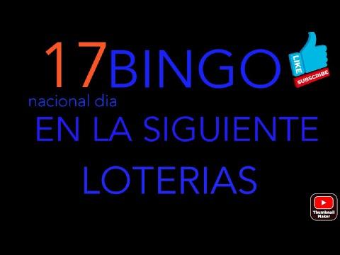 NUMEROS PARA HOY(17)Bingo en la nacional dia