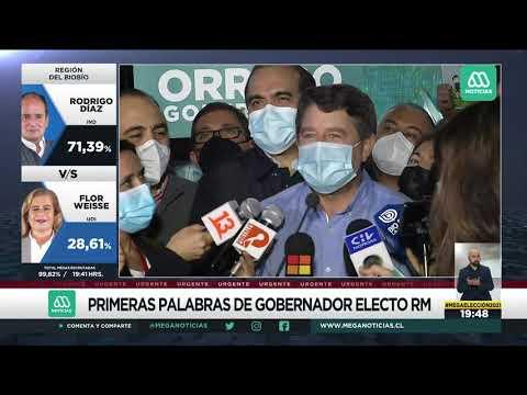 Elección Gobernador: Habla Claudio Orrego tras triunfo ante Karina Oliva en Región Metropolitana