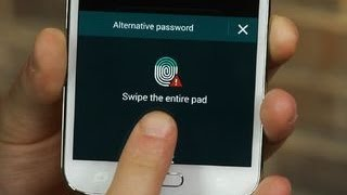 Set up the fingerprint scanner on the Galaxy S5