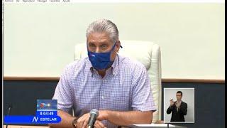 Cuba: Llama Miguel Díaz-Canel a redoblar la disciplina en el enfrentamiento a la Covid-19