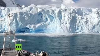 Un glaciar de la Antártida pierde un gran pedazo