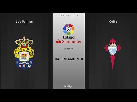 Calentamiento Las Palmas vs Celta