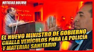 ???? MIN. DE GOBIERNO PARTICIPA EN ACTO DE CHALLA DE VEHÍCULOS Y MATERIAL SANITARIO PARA LA POLICIA ????