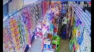 Cámaras captaron un asalto en una tienda de Santa Catrina Mita, Jutiapa