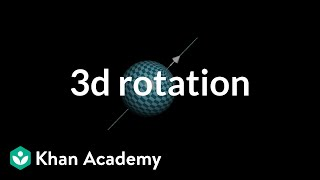 Describing rotation in 3d with a vector