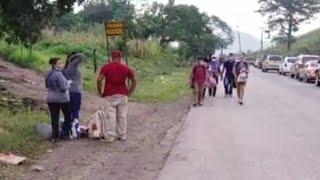 Caravana de migrantes hondureños inician recorrido hacia Guatemala