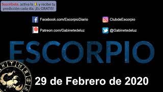 Horóscopo Diario - Escorpio - 29 de Febrero de 2020