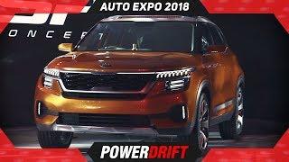 2018 Kia SP Compact SUV @ AutoExpo : Indias First Kia : PowerDrift