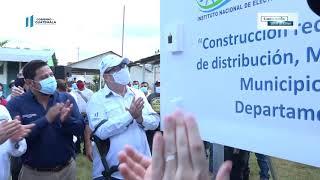 #InformeNacional |Presidente Alejandro Giammattei inauguró proyecto de electrificación en La Reinita
