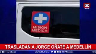 En avión ambulancia trasladaron a Jorge Oñate hasta Medellín