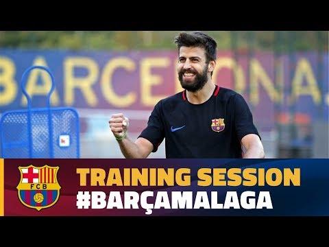 FC Barcelona: last training session before Málaga match