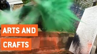Lawn Mower Art Explosion | Arts and Crafts