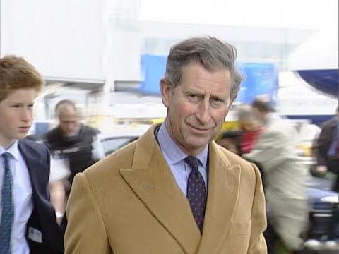 connectYoutube - Prince of Wales and Prince Harry at Heathrow - rushes