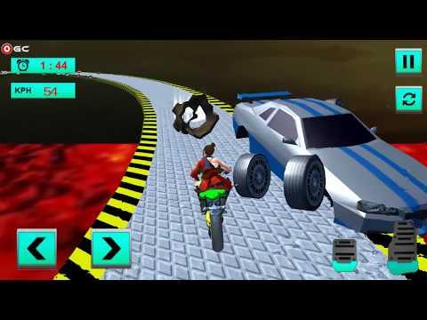 connectYoutube - Super Hero Moto Bike Lava Impossible Tracks 3D 2018 / Bike Stunt Racing / Android Gameplay