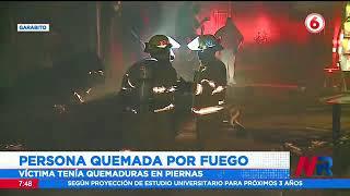 Persona herida en incendio en Garabito