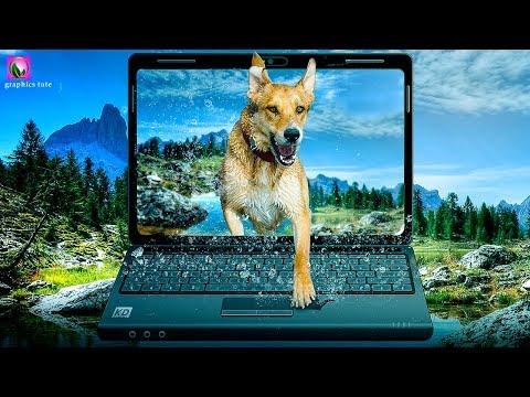 3D Pop Out Effect On Laptop - Photoshop Photo Effect Tutorial