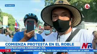 Comienza protesta en El Roble