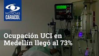 Ocupación UCI en Medellín llegó al 73%, ¿la ciudad se prepara para una alerta naranja