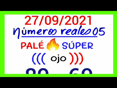 NÚMEROS PARA HOY 27/09/21 DE SEPTIEMBRE PARA TODAS LAS LOTERÍAS..!! Números reales 05 para hoy....!!