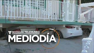 Edificios resquebrajados, las consecuencias del temblor en Puerto Rico   Noticias Telemundo