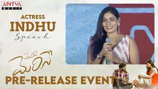 Actress Indhu Speech | #MeriseMerise Pre-Release Event Live | Dinesh Tej, Shweta Avasthi - ADITYAMUSIC
