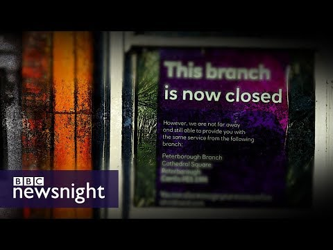 connectYoutube - The impact of bank branch closures on local communities - BBC Newsnight