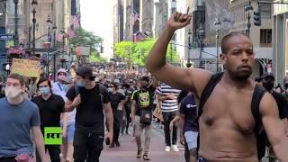 Varios arrestados en las protestas de Nueva York por la muerte de Floyd
