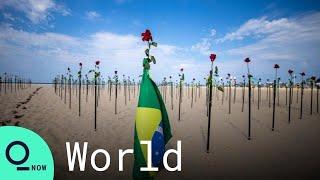 Brazilian Activists Protest High Covid Death Toll on Copacabana Beach
