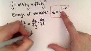 Bernoulli Equation for Differential Equations , Part 1