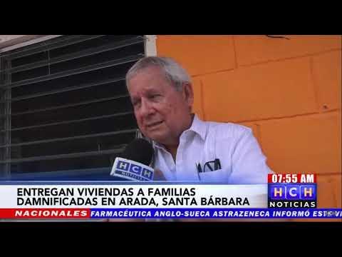 """Entregan viviendas """"no gubernamentales"""" a damnificados en Arada, Santa Bárbara"""