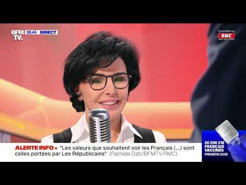 Rachida Dati face à Jean-Jacques Bourdin en direct