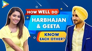 ENTERTAINING - Harbhajan Singh & Geeta Basra take a ROCKING quiz | Cricket | Bollywood - HUNGAMA