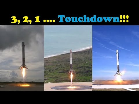connectYoutube - SpaceX 2017 - All Falcon 9 Landings (SUPERCUT)