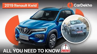 Renault Kwid 2019 Spied On Test   Specs, New Features and More! #In2Mins