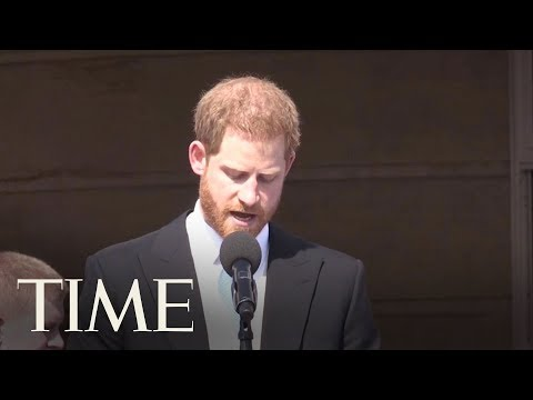 Prince Harry Gives A Touching Speech At His Dad's 70th Birthday Garden Party   TIME