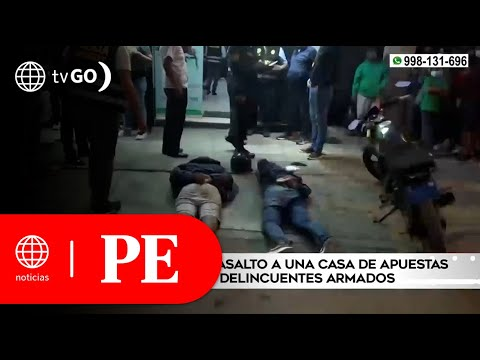 Policía frustró asalto a una casa de apuestas y capturó a los delincuentes   Primera Edición