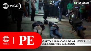 Policía frustró asalto a una casa de apuestas y capturó a los delincuentes | Primera Edición