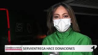 Servientrega se sumó a la donación de refrigerios para el personal médico