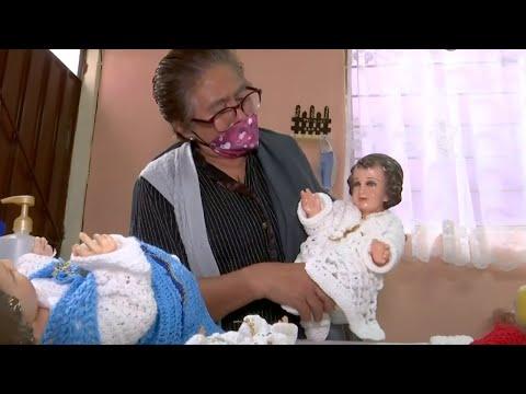 Yolanda tiene Parkinson y ahora teje para sobrevivir, todos sus familiares murieron por COVID-19