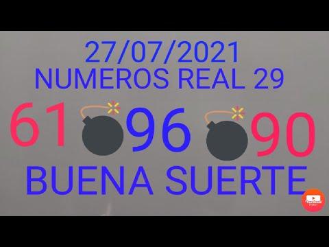 NUMEROS PARA HOY 27 DE JULIO DEL 2021,#NUMEROS REAL 29