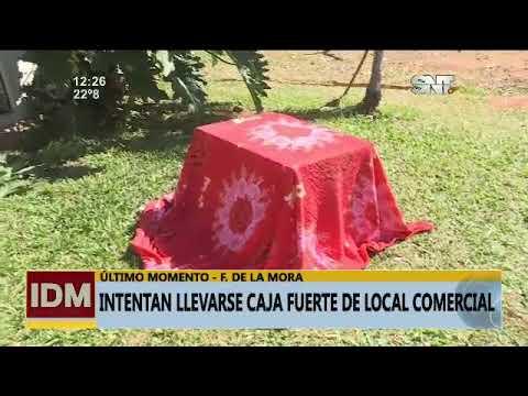 Intentaron llevarse la caja fuerte de un local comercial en Fdo. de la Mora