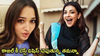 Tamanna About Kajal Aggarwal Marriage | Tamanna Q backslashu0026 A With Fans | Actress Tamanna Bhatia - RAJSHRITELUGU