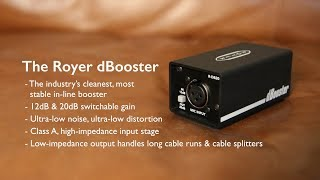 Introducing Royer Labs dBooster, In-Line Signal Booster for Ribbon & Dynamic Mics