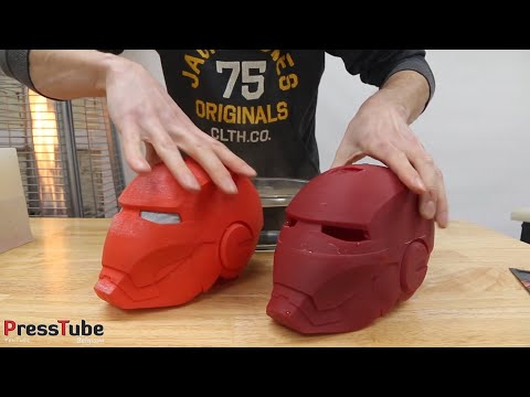 connectYoutube - Casting Color Changing Iron Man Helmet