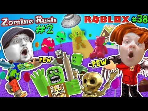 connectYoutube - ROBLOX ZOMBIE RUSH #2! UFO Spaceship Friend & Candy Land! FGTEEV Rolling Pin! Gameplay Chase (#38)