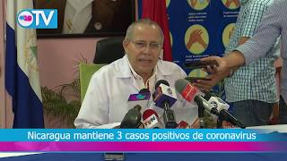 Nicaragua mantiene 3 casos positivos de coronavirus
