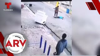 Hombre enfurecido mata a otro de un puñetazo en plena calle   Al Rojo Vivo   Telemundo