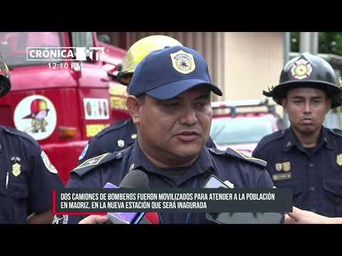 Parten camiones bomberiles para nueva estación en San Juan del Río Coco - Nicaragua